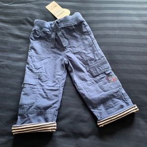 NWT Jojo Maman Bebe lined Toddler Utility Trousers
